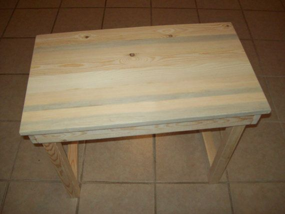 Kids Unpainted Table Furniture , Reclaimed , Rustic , Wood , Pine , Diy  Homemade ,
