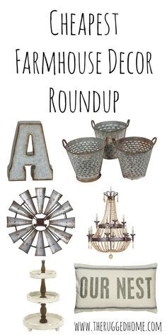 50 Beautiful Rustic Home Decor Project Ideas You Can Easily DIY Cheap Farmhouse Decor, Cheapest Roundup Of Farmhouse Decor On The Internet, Industrial Country Farmhouse Rustic Decor