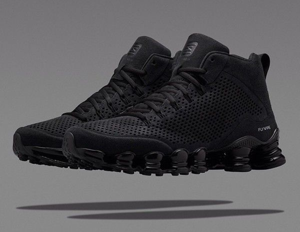huge selection of 65b28 a1586 Nike Shox TLX Mid Triple Black ...
