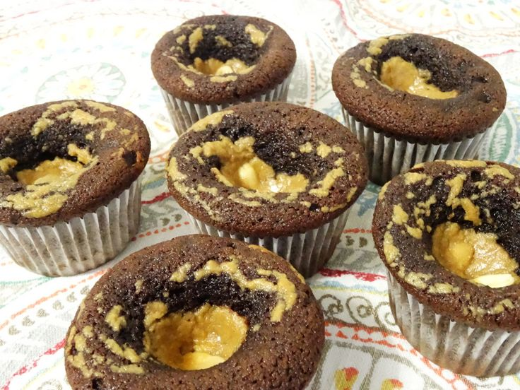 Chocolate Muffins with Peanut Butter Caramel - paleo, gluten free, dairy free, delicious