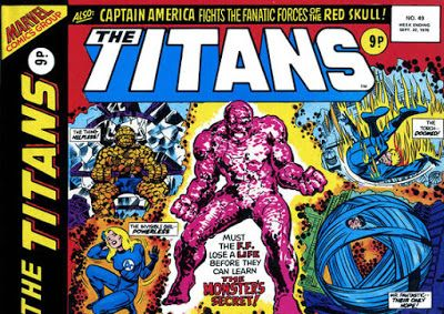 Marvel UK, the Titans #49, the Fantastic Four