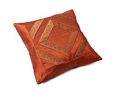Наволочка декоративная - хлопок - оранжевый, 40х40 см