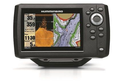 HUMMINBIRD HELIX 5 DI GPS Se la pesca è nel tuo DNA, come lo è per noi della Humminbird, non puoi pensare che il risultato di una battuta di pesca dipenda solo dalla fortuna. Non solo:  più alte sono le tue aspettative, più devi agire con precisione. Per questo Helix 5 è quello che ti serve, con l'ampio display a colori, le potenti funzionalità SONAR, che possono includere anche il Down Imaging o il Side Imaging, il GPS incorporato e la cartografia dettagliata.