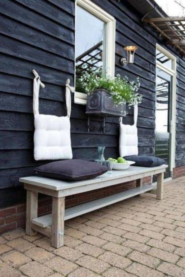 stylen voor de schutting in de tuin #Inspiratie #Decoratie #Tuin #Tuininrichting