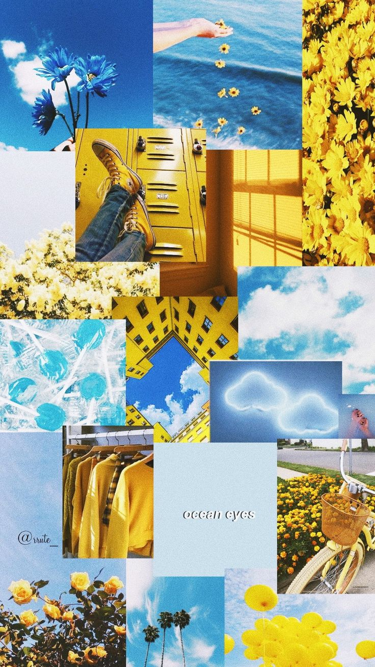 Pastel yellow aesthetic board // for more mood boards, follow @organizedpotato #pastel #aesthetic. Wallpaper blue and yellow   Iphone wallpaper tumblr ...