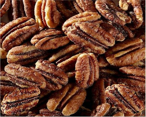 Our fresh pecan halves freshly roasted then lightly coated with BBQ seasoning. Always roasted the same week of shipping ! Besides being one of the most versatile and great tasting nuts, Georgia pecans