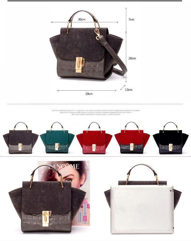 Women Portable Handbag Designer Tze Ear Smiley Swing Tricolor Lock Celeb