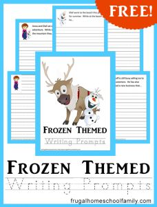 Free Frozen Printable: Themed Writing Prompt + More - Southern Savers :: Southern Savers