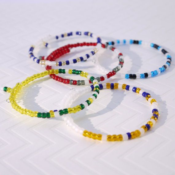 You'll love this unique school spirit bracelet for back to school.  Custom made in your school colors, and with YOUR secret message in morse code.