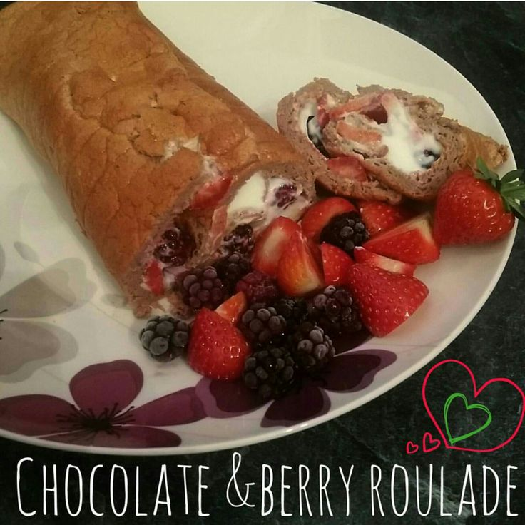 Chocolate and Berry Roulade