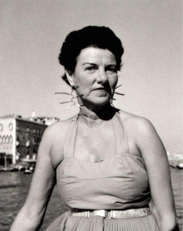 Peggy Guggenheim in Venice Wearing Alexander Calder Earrings