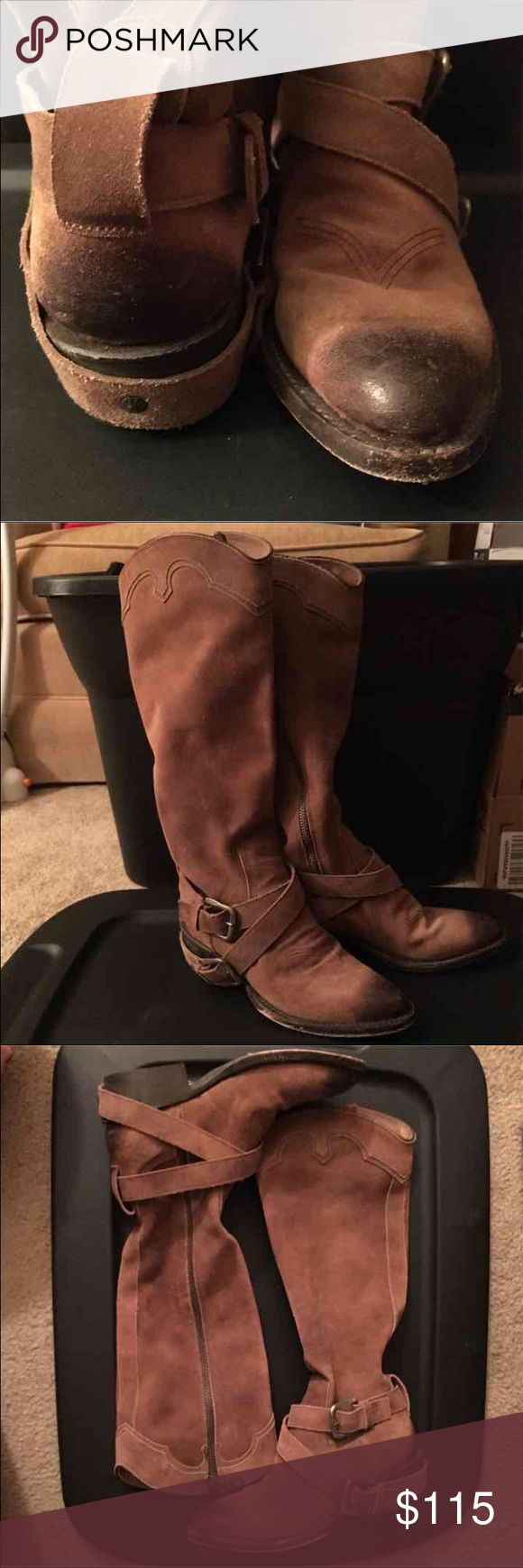 Genuine leather Matisse boots Genuine leather Matisse boots only worn twice. Note that these fit more like a 5 than a 6 and may not fit if you have wide feet or large calves. Thanks for looking! Make a reasonable offer Shoes
