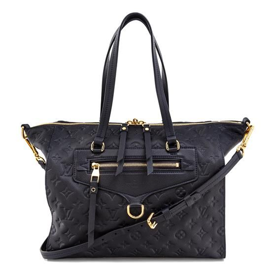A Louis Vuitton Navy Leather Monogram Tote Bag  | Designer Handbag | Luxury Accessories and Couture | April 5, 2017 in Chicago
