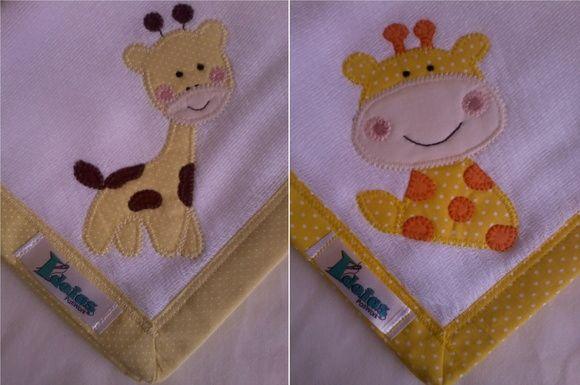 Kit Fralda de Boca com 02 unidades em tecido duplo (04 camadas para melhor absorção) 100% algodão com patch apliqué e bainha em tecido.    * As fraldinhas também podem ser personalizadas escolhendo o tema e a cor do tecido para montar o kit.