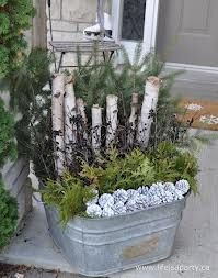 easy outdoor christmas planters - Google Search