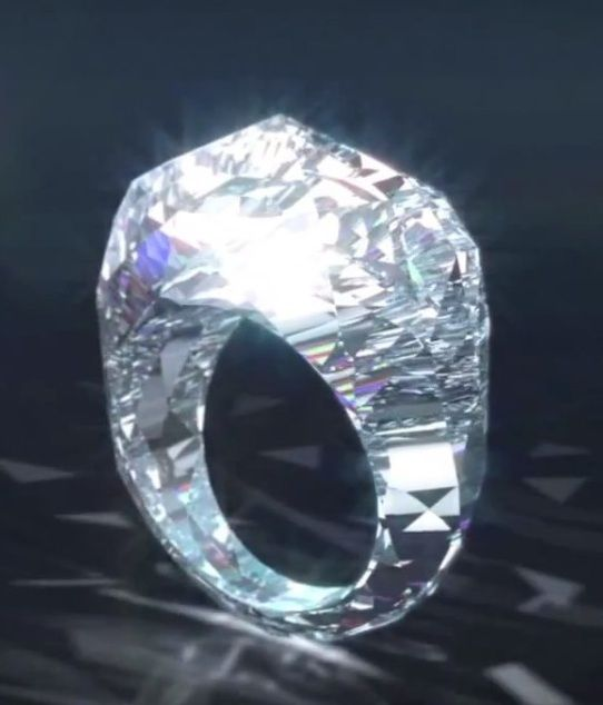 "For a mere 68 million you too can own the ""world's first all diamond ring"""