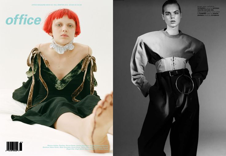 Y/PROJECT AND VETEMENTS FEATURED IN OFFICE MAGAZINE FALL/WINTER ISSUE. SHOT BY JEFF HENRIKSON, STYLED BY VITTORIA CERCIELLO. SHOT BY BENJAMIN LENNOX, STYLED BY ANDERS SØLVSTEN THOMSEN.