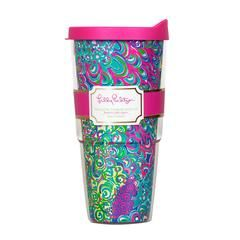 Lilly Pulitzer Insulated Tumbler with Lid, Lilly's Lagoon