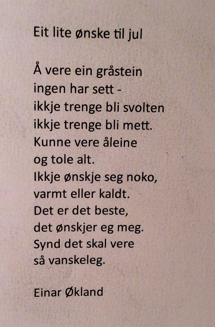 Et lite ønske til jul - Einar Økland