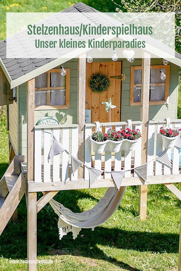 Stelzenhaus Spielhaus Diy Klapptisch Home And Herbs Kinder Spielhaus Garten Spielhaus Garten Kinder Spielplatz Garten