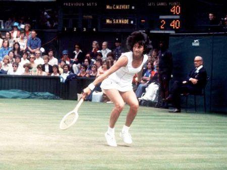 Virginia Wade tennis shot