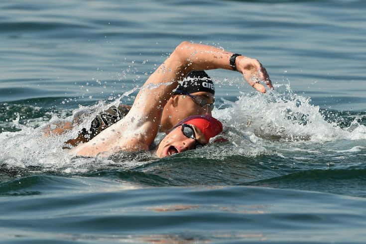 Jack Burnell of Great Britain competes in the Men's 10km Marathon Swim on Day 11 of the Rio 2016 Olympic Games at Fort Copacabana on August 16, 2016 in Rio de Janeiro, Brazil.
