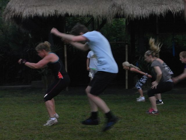 Frog leaps.. tropical fitness inspiration to MOVE MORE.  http://www.sharingbali.com/retreats/