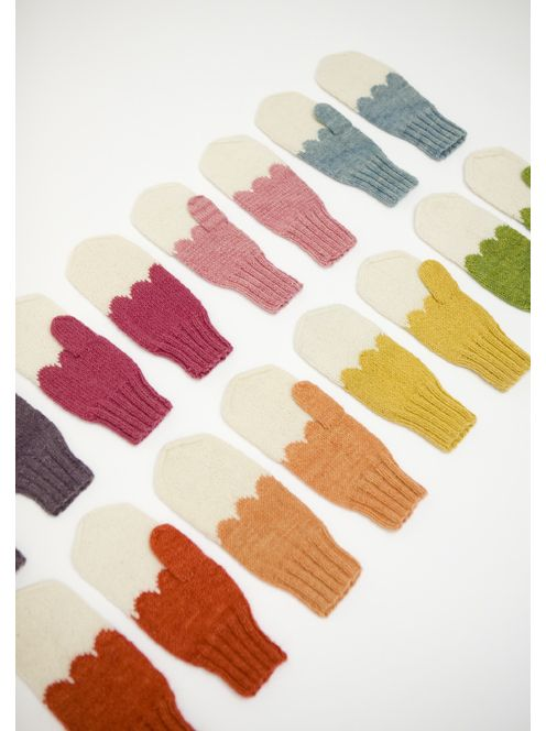 It would be cute to have the same design of mittens in every color of the rainbow