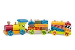 Simba, Kolorowy pociąg, drewniany-Simba