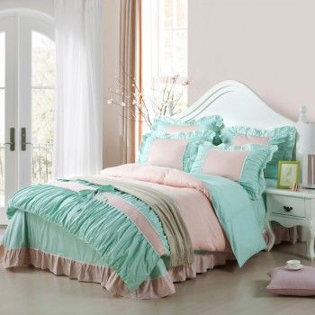 Tiffany Blue Bedding Sets. Teen girl bedroom paris, french theme blue and white.