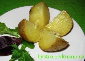 Картофель в мундире, запеченный в фольге
