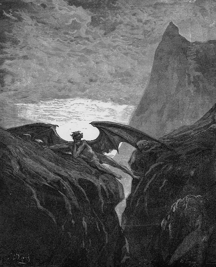 """Satan Sin And Death Paradise Lost Book: """"Paradise Lost"""" (1866) - Gustave Doré"""