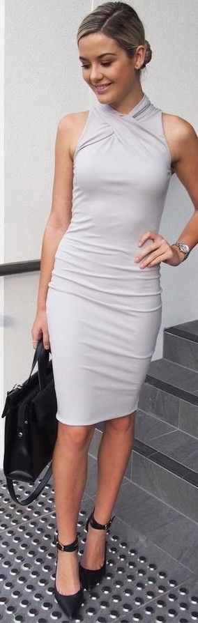 Grey Midi Dress                                                                             Source