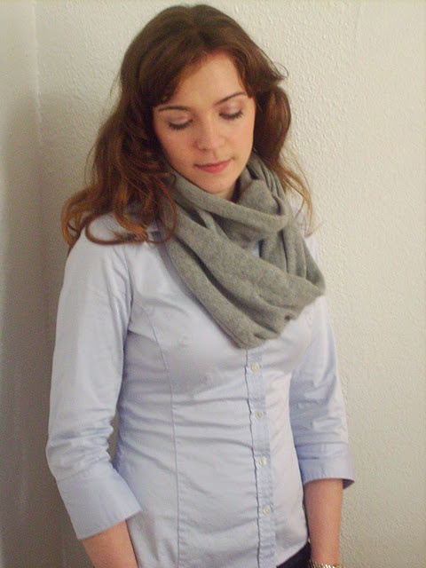 infinity scarf from an old sweater. Lots of other recycled ...