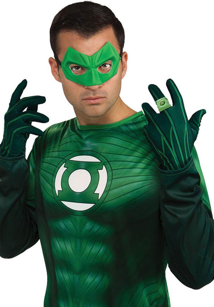 Green Lantern Adult Gloves - Fancy Dress Gloves at Escapade™ UK
