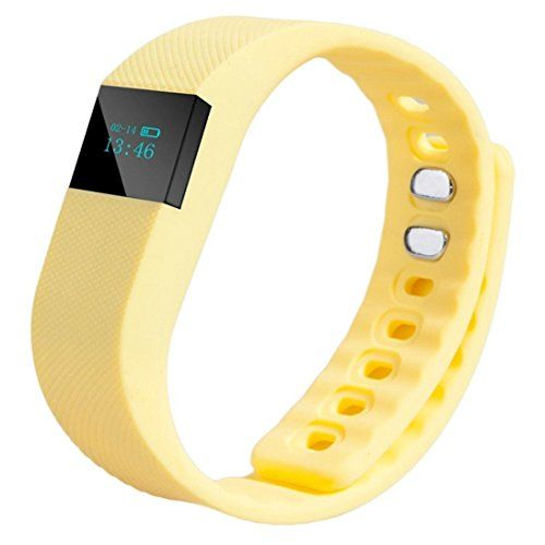 Generic Smart Watch Wrist Band Sleep Sports Fitness Activity Tracker Pedometer Yellow ** Check out this great product by click affiliate link Amazon.com