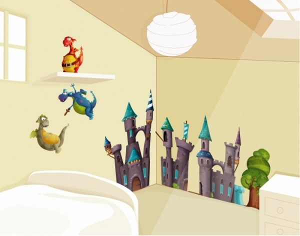 36 best chambre de chevalier images on Pinterest Child room, Play - stickers chambre bebe garcon pas cher