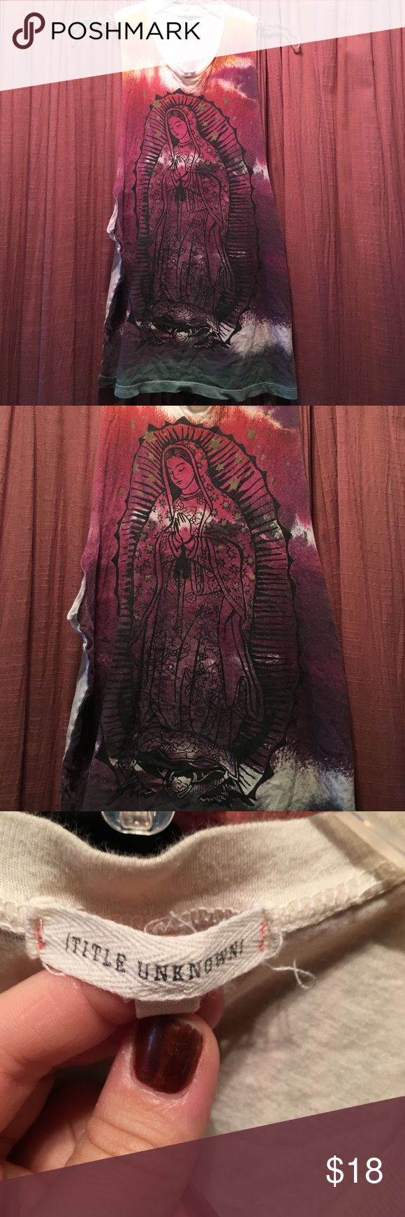 "Urban Outfitter virgin de Guadalupe T-shirt Size small ""little known"" for urban outfitters-but fits close to medium t -shirt. Virgin Mary/Virgen de Guadalupe t-shirt. Absolutely beautiful T-shirt!!! Urban Outfitters Tops Tees - Short Sleeve"