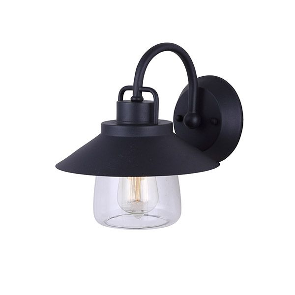 """Colorado, IOL252BK, 1 Lt Outdoor Down Light, Clear Glass, 100W Type A, Easy Connect Included, 9""""W x 10 1/2""""H x 10 1/4""""D"""