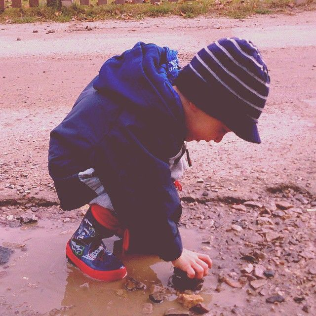There is nothing like a puddle!