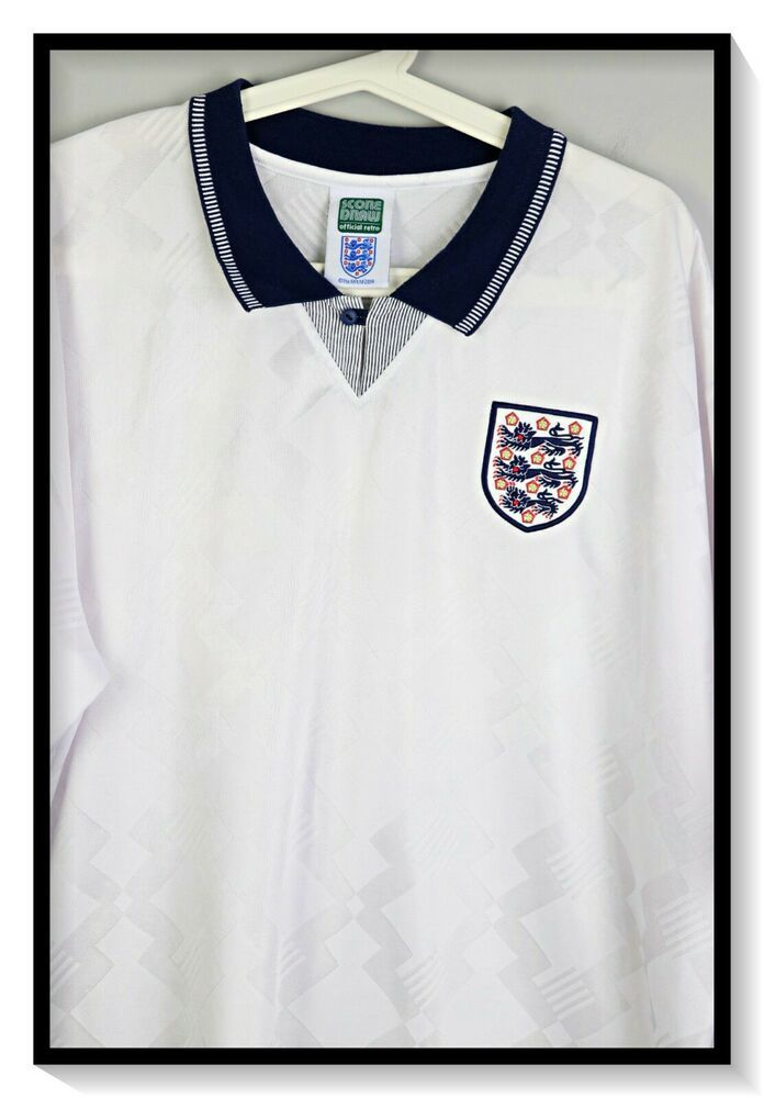 Vintage England 1990 World Cup Shirt 19 Gascoigne Score Draw Xxl Fashion Clothing Shoes Accessories Mensclothing Sh Shirts World Cup Shirts Retro Shirts