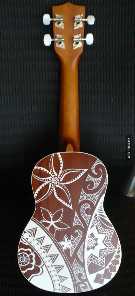 I bought a couple white paint pens and went to town on my ukulele. I'm especially proud of the back.