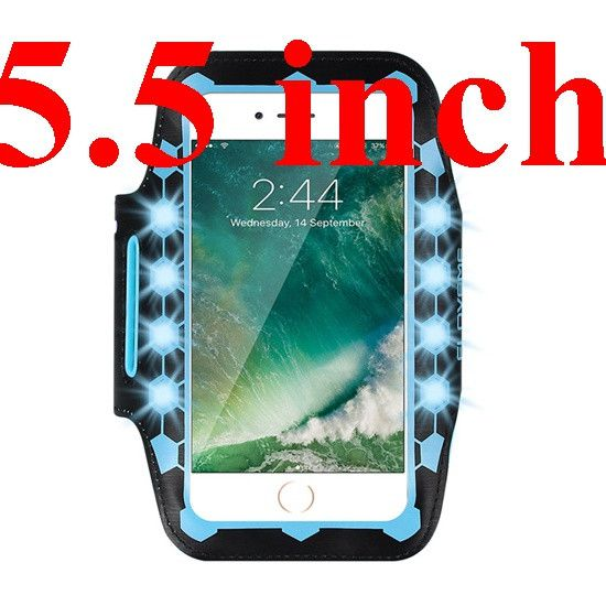 FLOVEME 5.5 inch Universal LED Light Glow Armband Phone Case For iPhone 7 7 Plus 6 Plus 6S Plus 6 6S GYM Sport Running Cover Bag