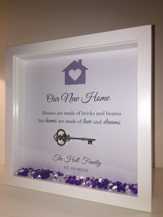Handmade Personalised Box Frame New Home or First Home