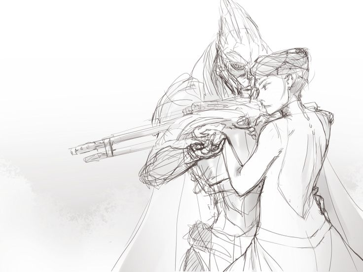 I feel like this would be them on their wedding day: Still checking to make sure the weapons are ready, just in case