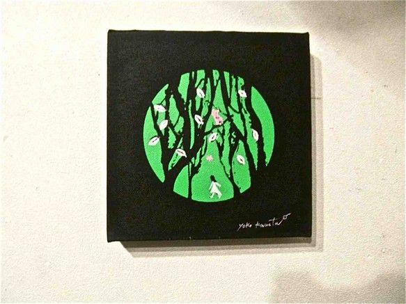 画材:シルクスクリーン、手描き材質:キュービックキャンバス(黒) 20cm×20cm|ハンドメイド、手作り、手仕事品の通販・販売・購入ならCreema。