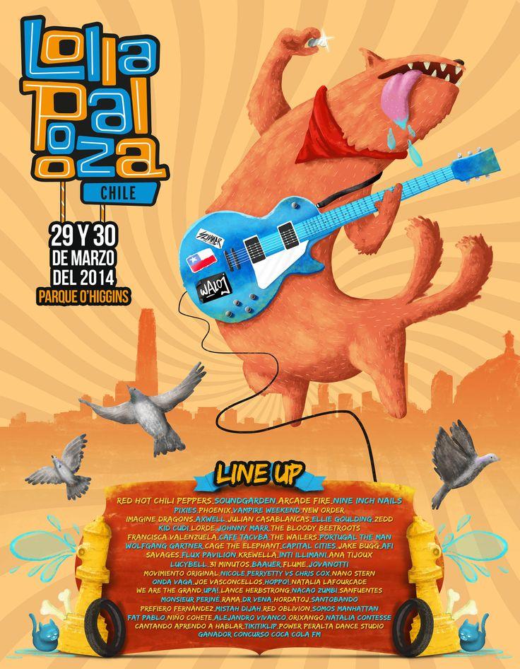 Afiche para Lollapalooza Chile 2014 #lollapalooza