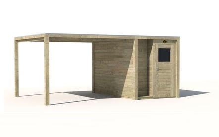 Tuinhuisjes, Tuinhuis Sydney 2025 + overkapping, vanaf EUR 3.048,- bij hillhout