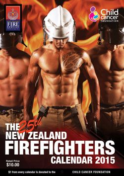Abs and tats and puppies, oh my! 2013 NZ Firefighters Calendar giveaway: http://www.mareeanderson.com/nz-firefighters-2015-calendar-giveaway