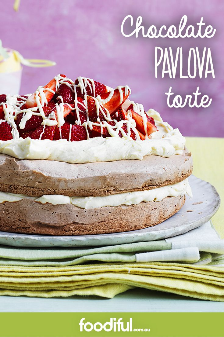 Did someone say pavlova and CHOCOLATE? This recipe contains both in abundance. Delish! Ready in only 3 hr 20 min, this recipe serves 10.